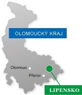 Mikroregion Lipensko na mapě Olomouckého kraje